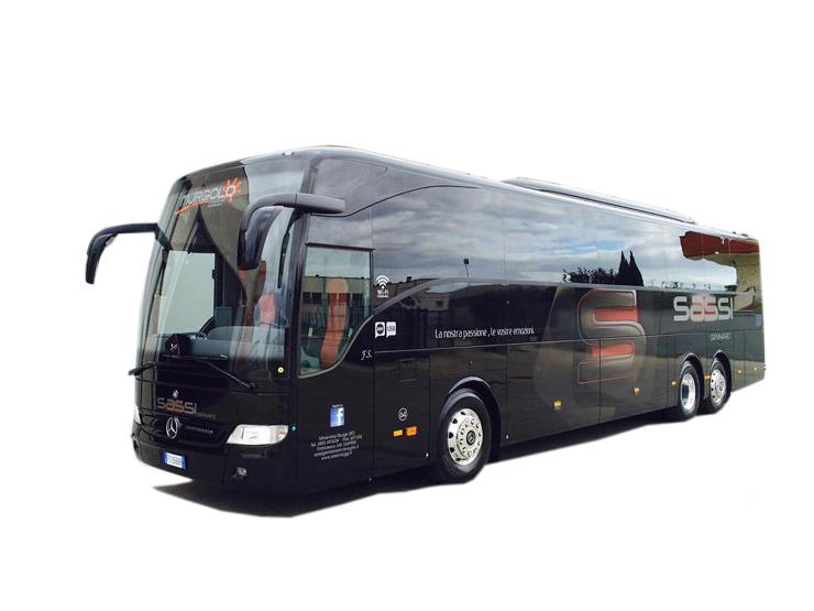 MERCEDES TOURISMO 13 METRI EURO 6 NERO 54 POSTI VIP